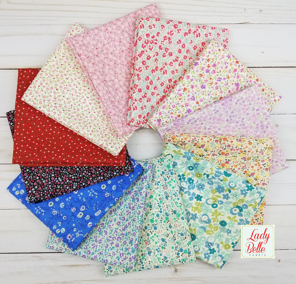 Sevenberry Florals for Robert Kaufman Fat Quarter Bundle