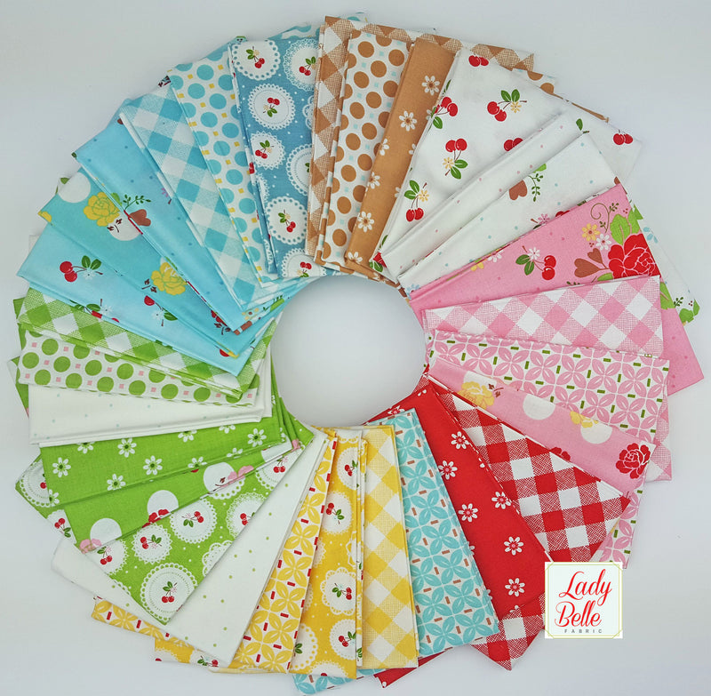 Sew Cherry 2 by Lori Holt for Riley Blake Fat Quarter Bundle