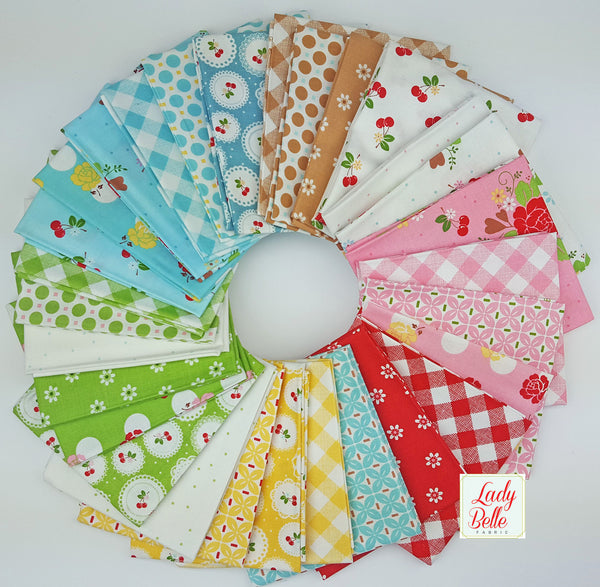 Sew Cherry 2 by Lori Holt for Riley Blake Half Yard Bundle