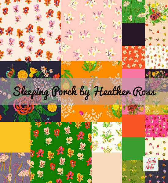 Sleeping Porch with Solids by Heather Ross for Windham Fabrics Half Yard Bundle