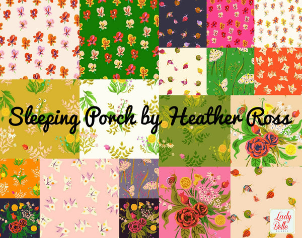 Sleeping Porch by Heather Ross for Windham Fabrics Fat Quarter Bundle