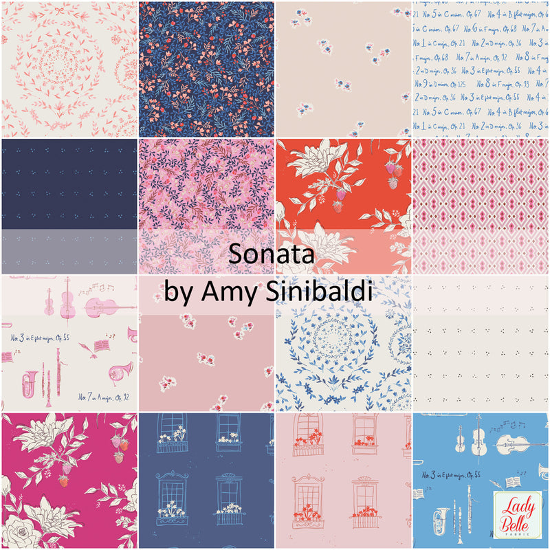 Sonata by Amy Sinibaldi for Art Gallery Fabrics Fat Quarter Bundle