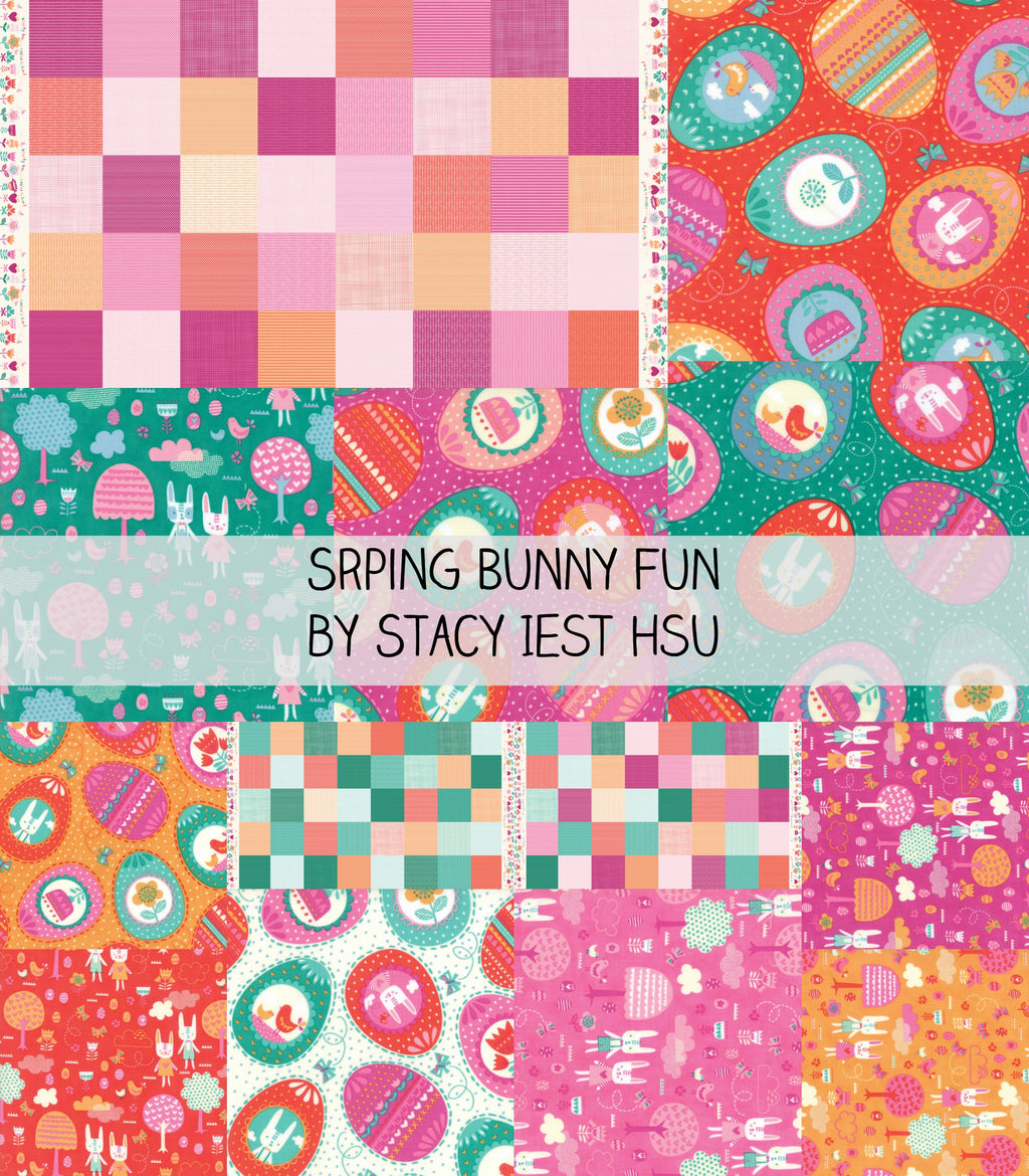 Spring Bunny Fun by Stacy Iest Hsu for Moda Fat Quarter Bundle