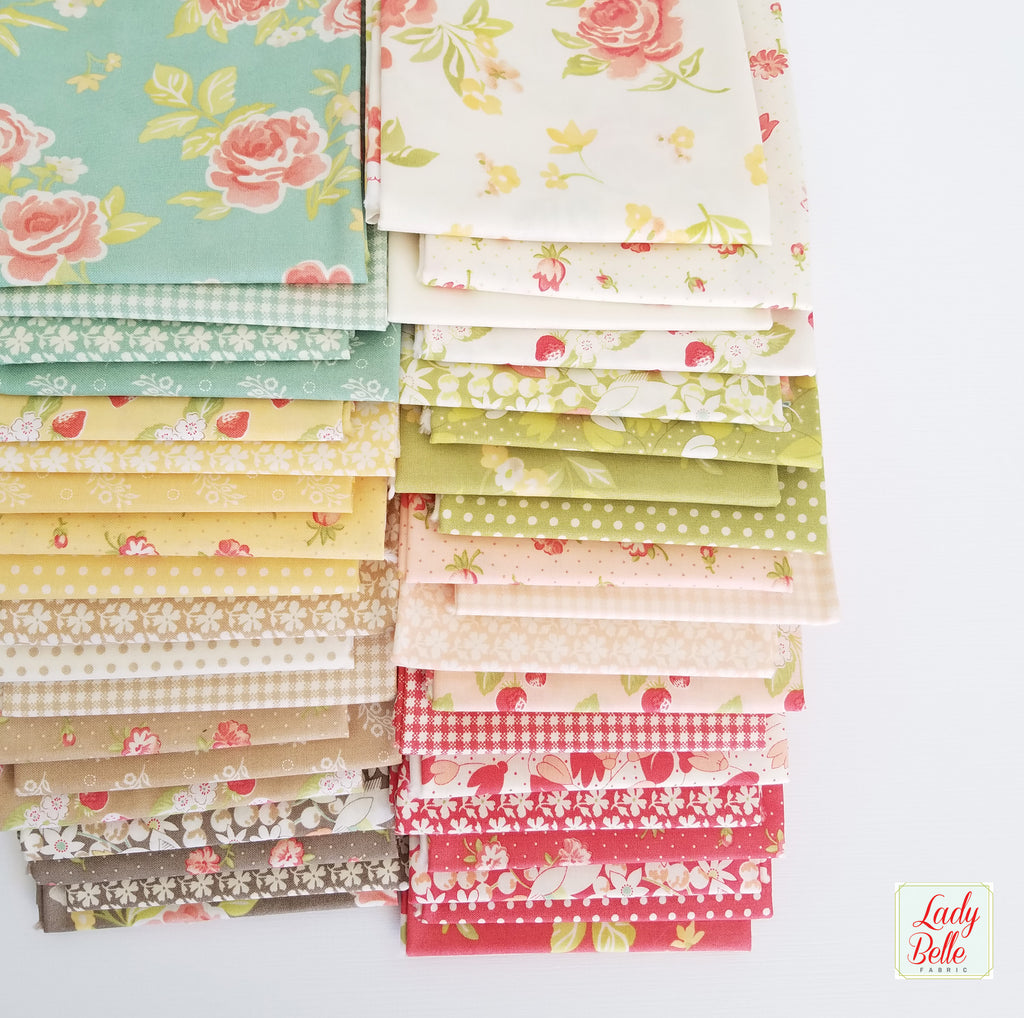 Strawberry Fields Revisited by Fig Tree and Co. for Moda Fat Quarter Bundle