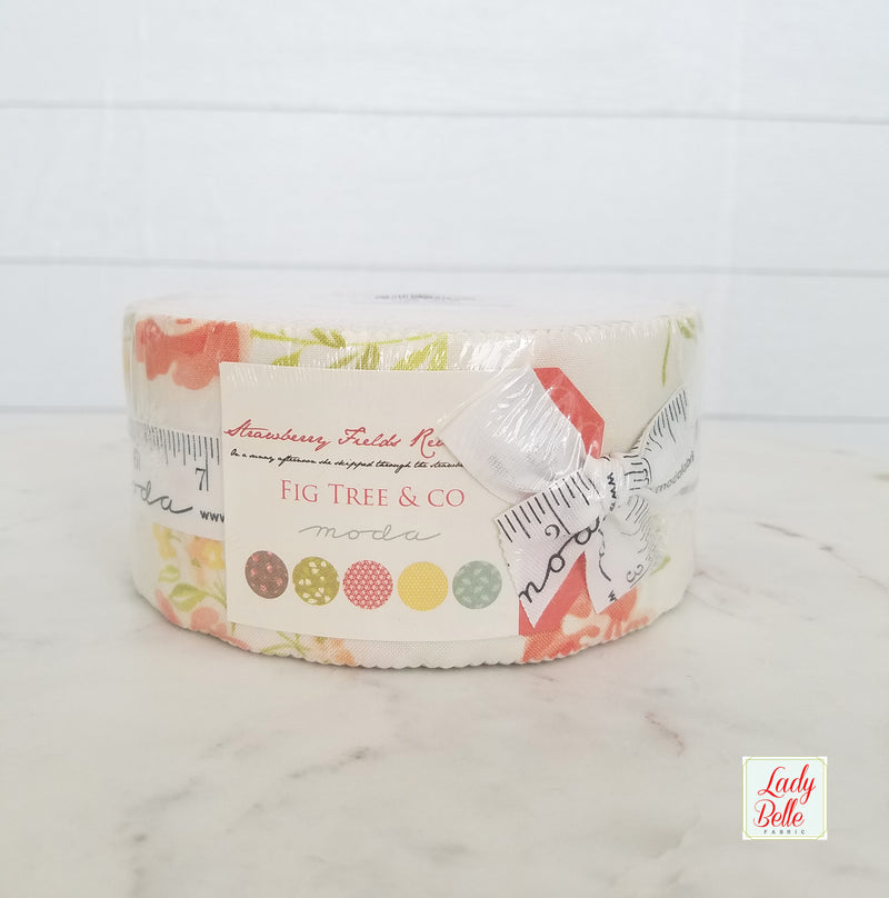 Strawberry Fields Revisited by Fig Tree and Co. for Moda Jelly Roll