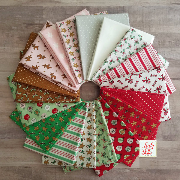 Sugar Plum Christmas by Bunny Hill Designs Half Yard Bundle