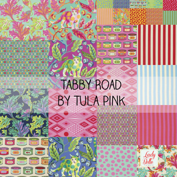 Tabby Road by Tula Pink for Free Spirit Half Yard Bundle