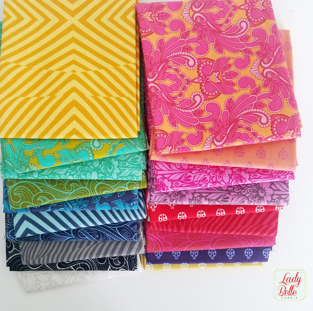 True Colors by Tula Pink for Free Spirit Fat Quarter Bundle