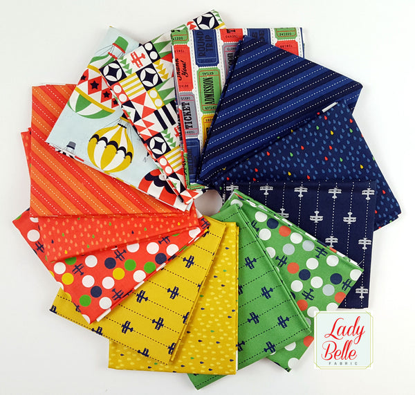 Up and Away Planes by Emily Herrick for Michael Miller Fat Quarter Bundle