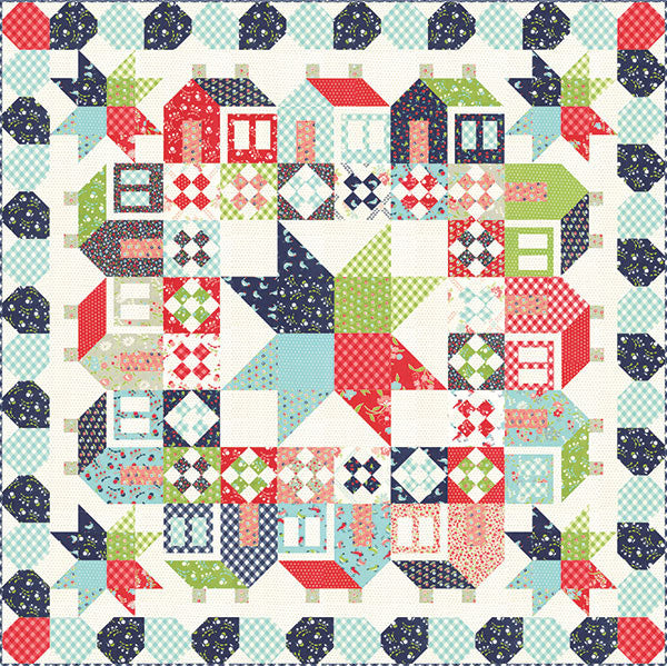 vintage picnic quilt kit, bonnie and camille