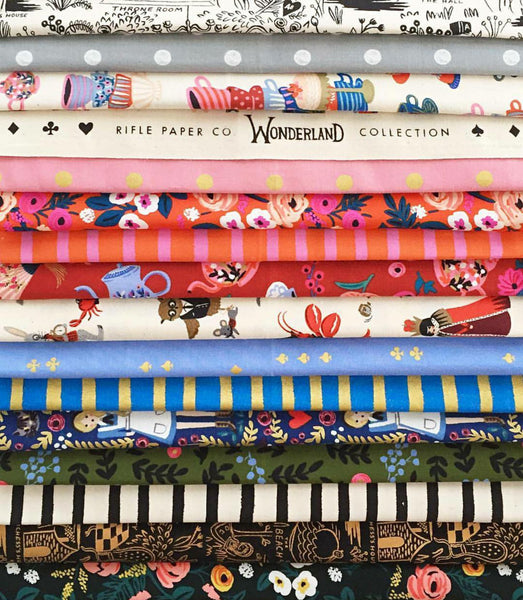 Wonderland by Rifle Paper Co. for Cotton and Steel Half Yard Bundle