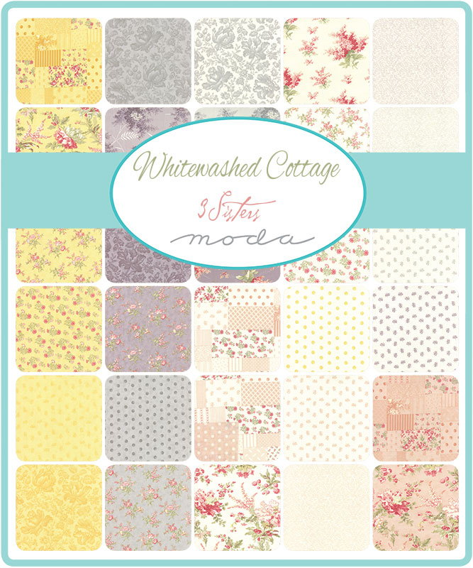 Whitewashed Cottage by 3 Sisters for Moda Fabrics Fat Quarter Bundle