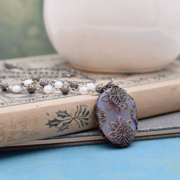 Filigree Agate Necklace