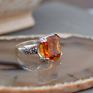 Madeira Citrine Cocktail Ring
