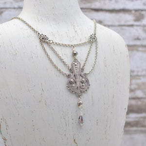 Silver Art Nouveau Festoon Necklace