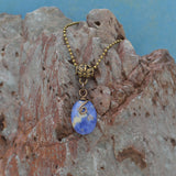 Wire Wrapped Sodalite Pendant Necklace