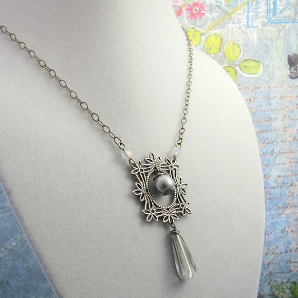 Silver and Pearl Necklace