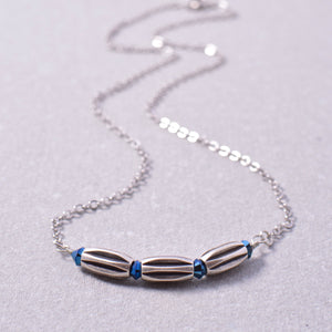 Dainty Silver Bar Necklace