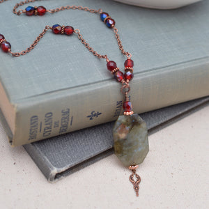 Vampire Diaries - Labradorite and Antiqued Copper Necklace