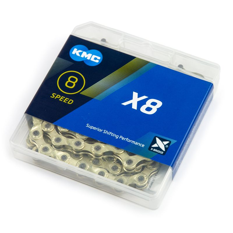KMC X8 8 Speed Chain (116 links) Gold