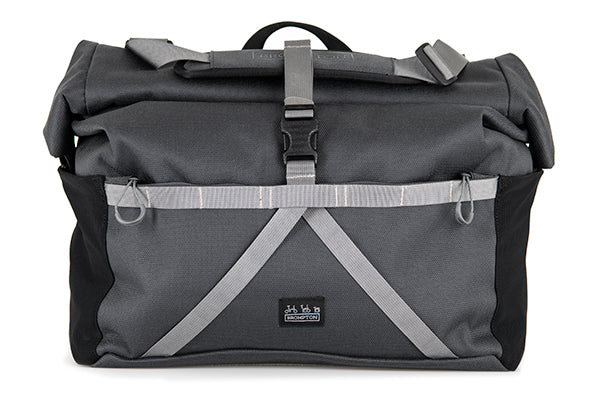 Brompton Borough Roll Top Bag L, Dark Grey, with frame