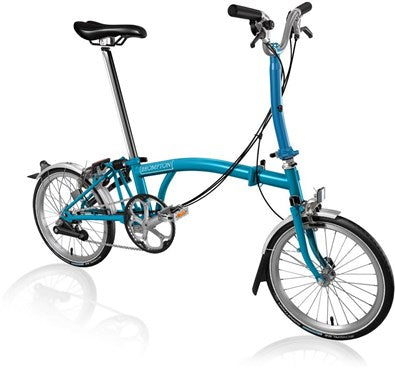 Brompton Bicycle Lagoon Blue FCB