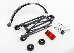 Rack set complete include 4 Rollers with mudguard - 6mm Holes (Black)
