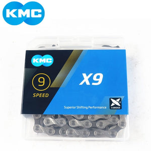 KMC X9 Silver 9 speed Chain (116 Links)