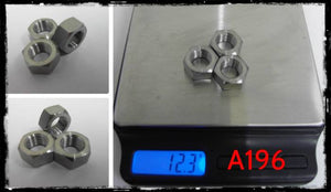 Ti Parts Workshop CNC Titanium 1/2 Speed Rear Wheel Nuts