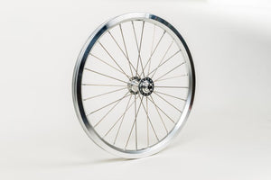 Front wheel radial lacing incl fittings - Superlight (Silver)