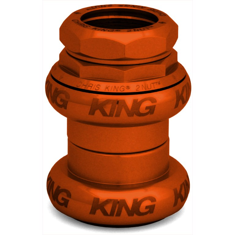 Chris King 2Nut 1 1/8 inch Headset Sotto Voce Orange