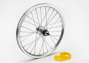 Rear wheel incl fittings for 1 / 2-spd (Silver)
