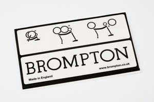 Brompton Decal Steel ( Old design )