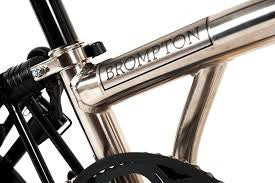 Brompton Nickel Superlight Edition with Front carrier block