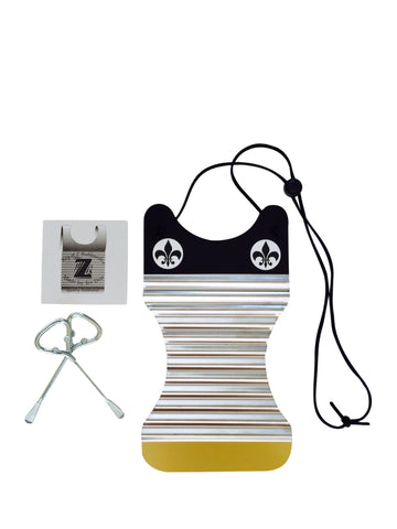 Women's Black & Gold Mini Washboard