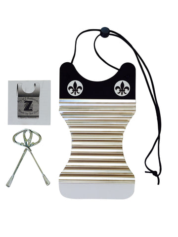 Women's Mini Black & White Washboard