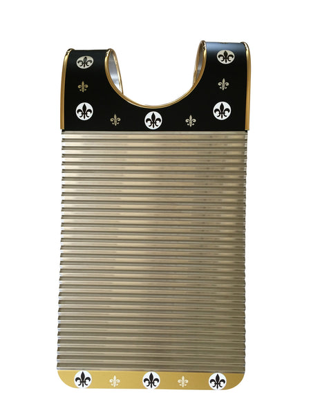 Black & Gold Fleur De Lis Key of Z Washboard