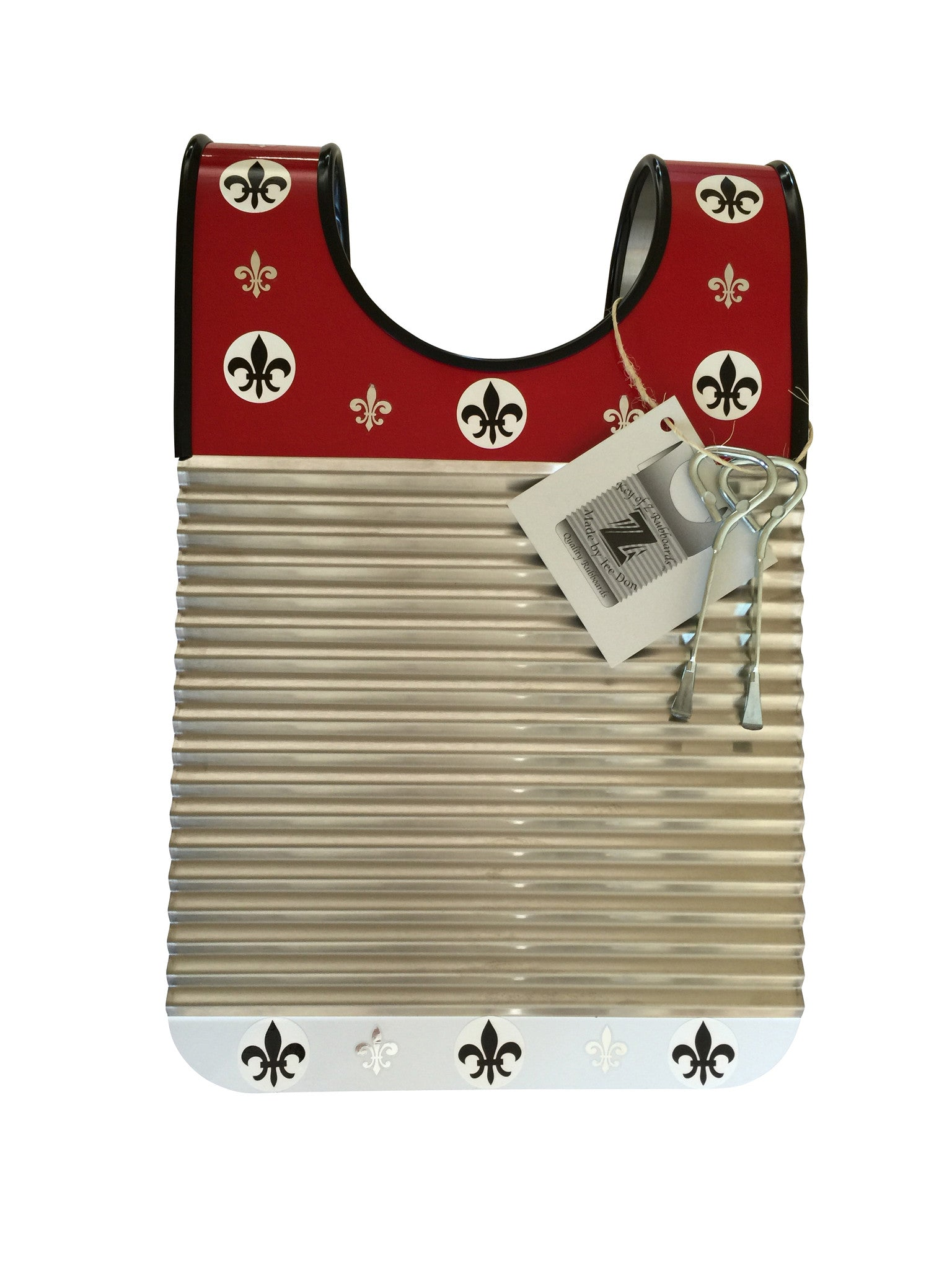 "Child Size""RED & WHITE"" Key of Z Washboard"