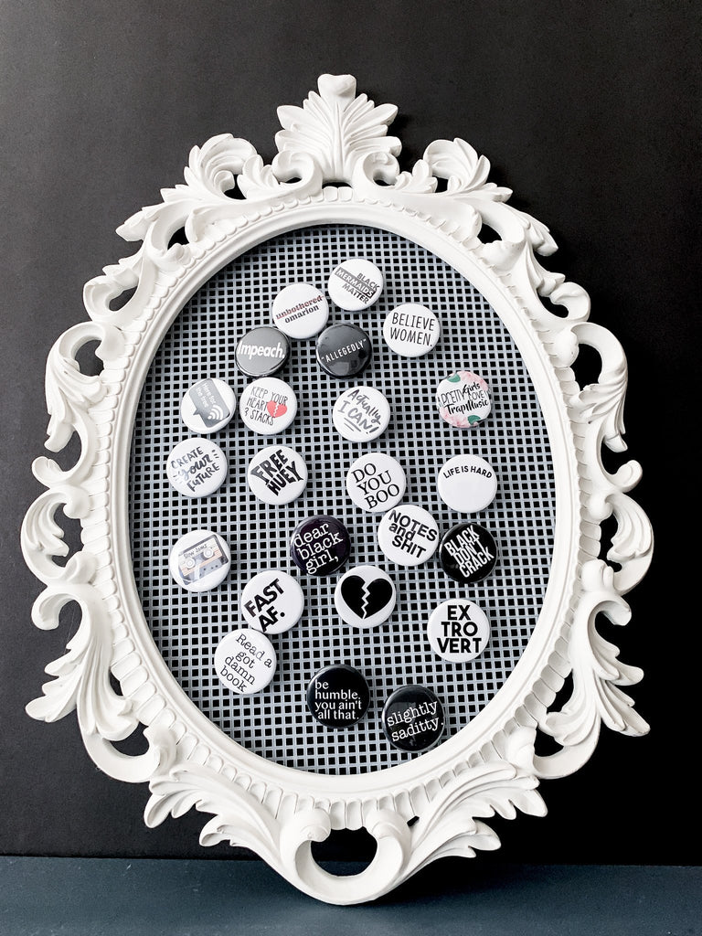 Button Pin Display Frame | InclusiveRandomness