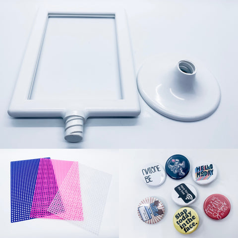 Inclusive Randomness pin back button display
