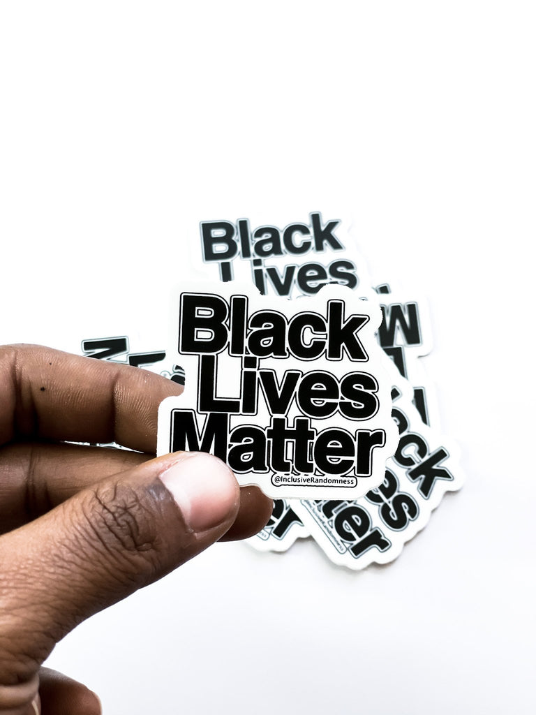 Black Lives Matter Sticker - InclusiveRandomness