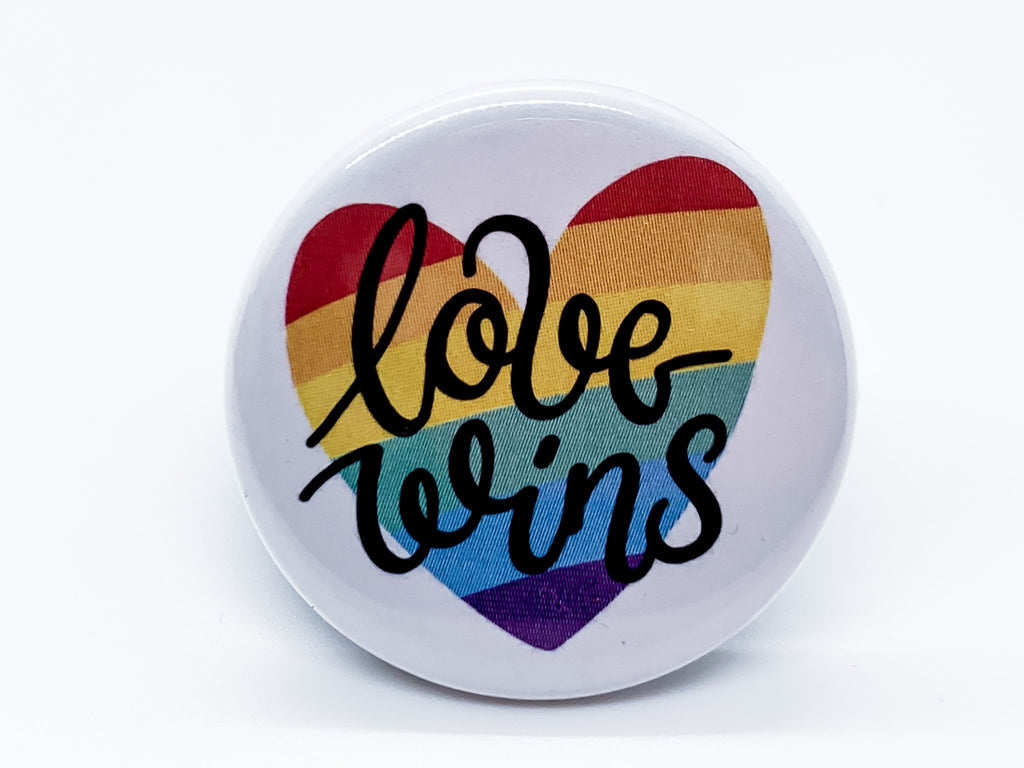 Love Wins Button - InclusiveRandomness