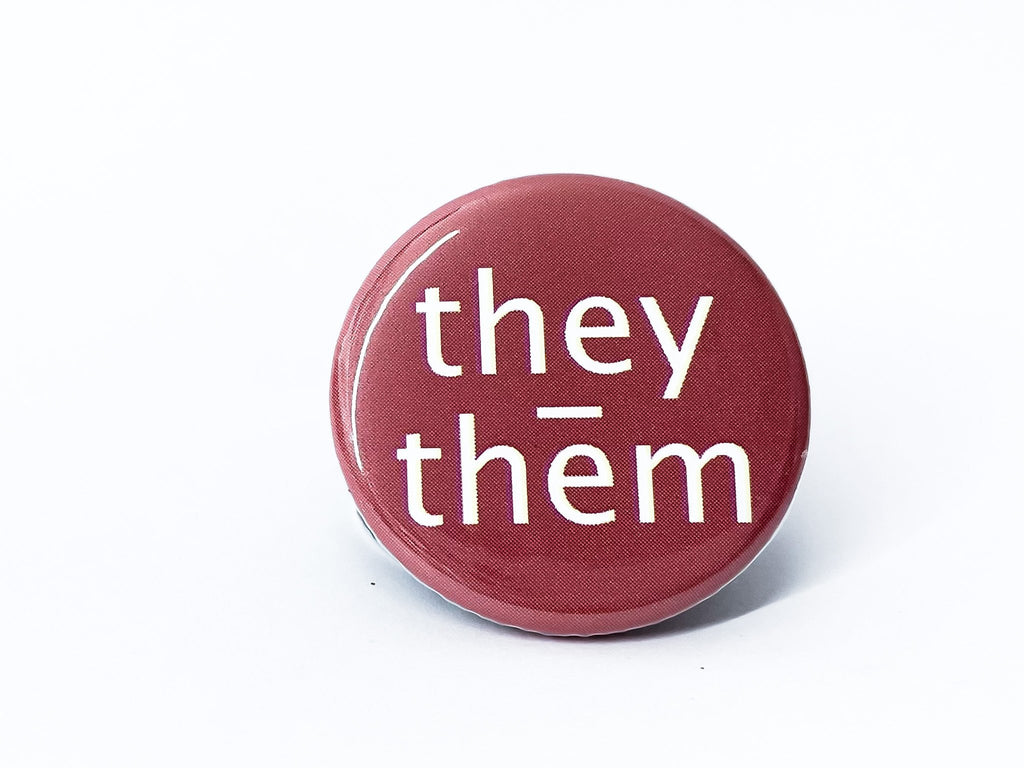 They Them Pronouns Button - InclusiveRandomness