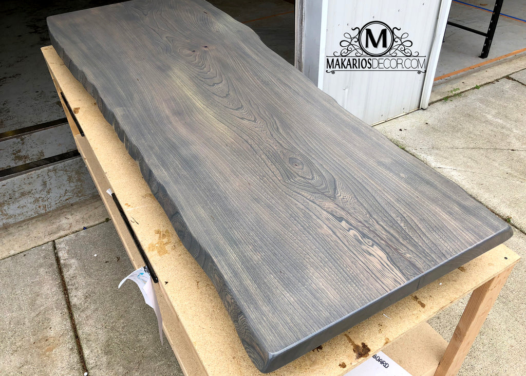 DIY wood slabs, modern wood slab, wood slab base, table top, wood table top, desk top, dining table top