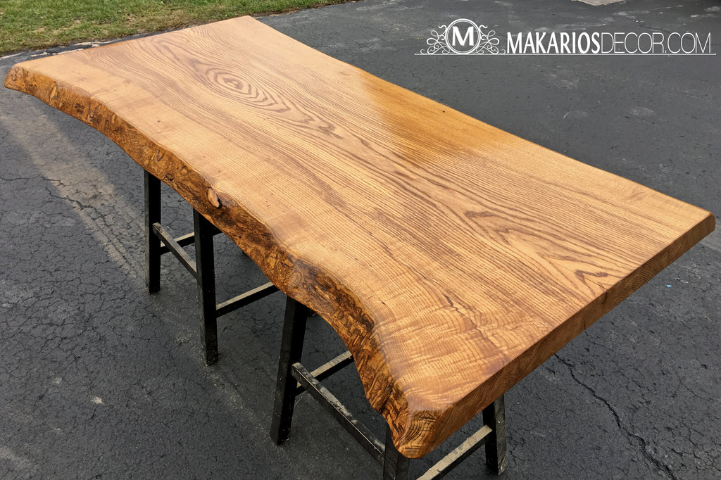 butcher block island, small kitchen island, kitchen island table, Live Edge Bar Top, Wood Slab, Behind the Sofa Table