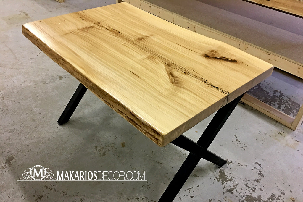 real wood slabs,natural edge wood countertops,raw wood for sale,rough edge wood,small live edge dining table,live edge maple dining table