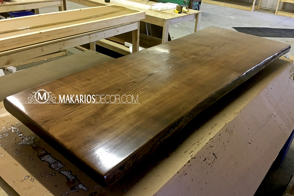 natural edge table, live edge wood furniture, wood slab bar top, live edge walnut table, live edge wood shelves, raw edge wood slab
