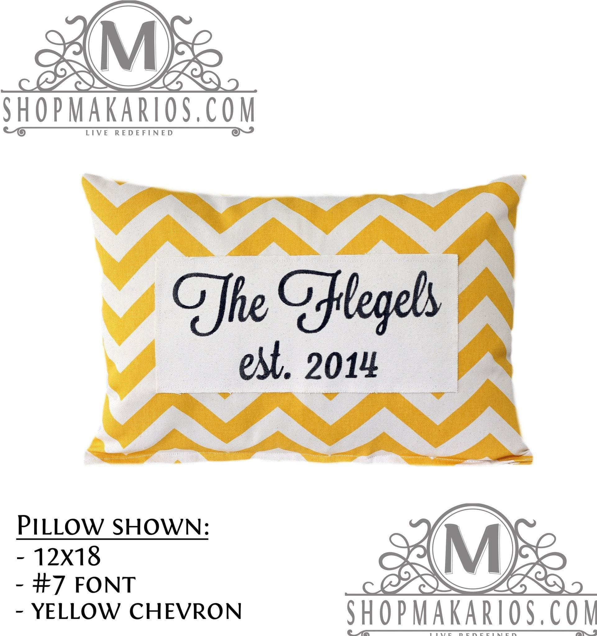 Family Name Pillow