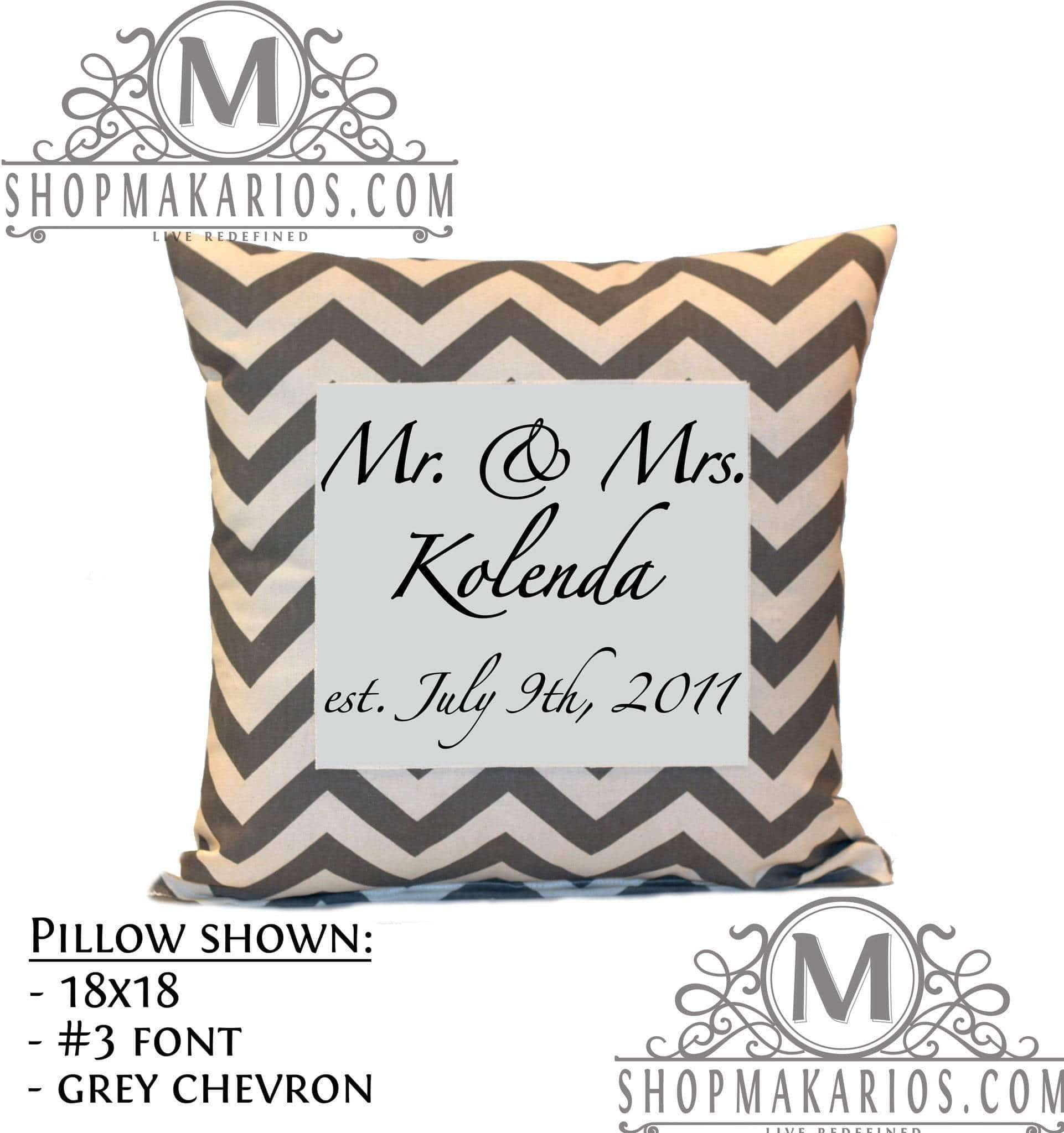 Mr. & Mrs. Pillow