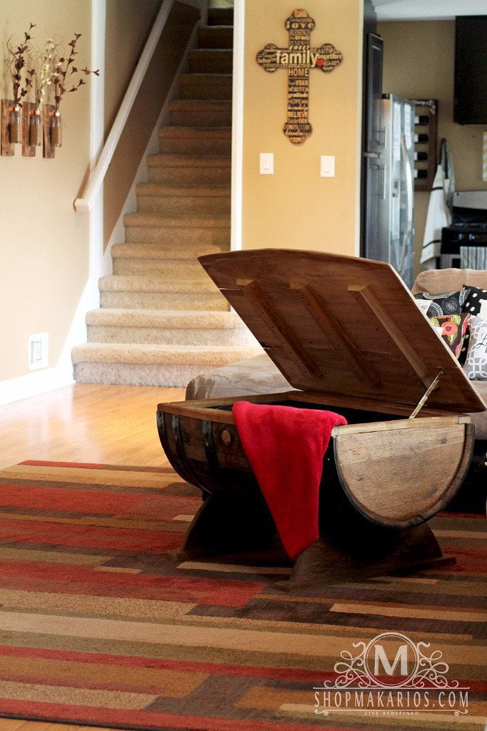 Wine Barrel Coffee Table.Barrel Coffee Table